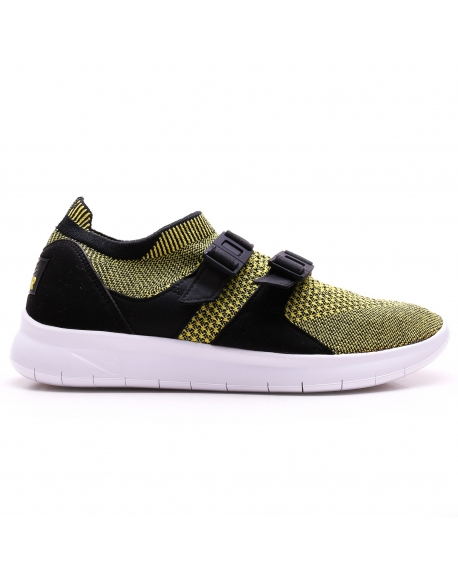 NIKE WOMEN'S SOCK RACER ULTRA FLYKNIT SHOE BLACK YELLOW