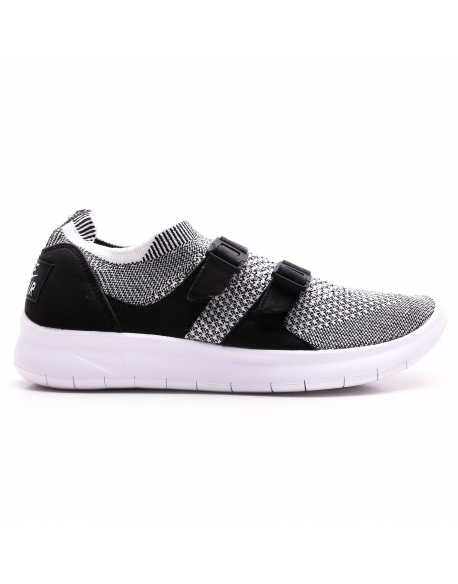 NIKE MEN'S AIR SOCK RACER ULTRA FLYKNIT SHOE BLACK GREY