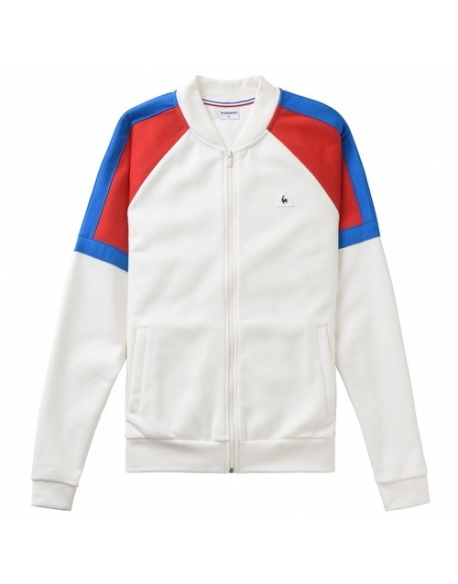 Le Coq Sportif Sweat zippé Tricolore