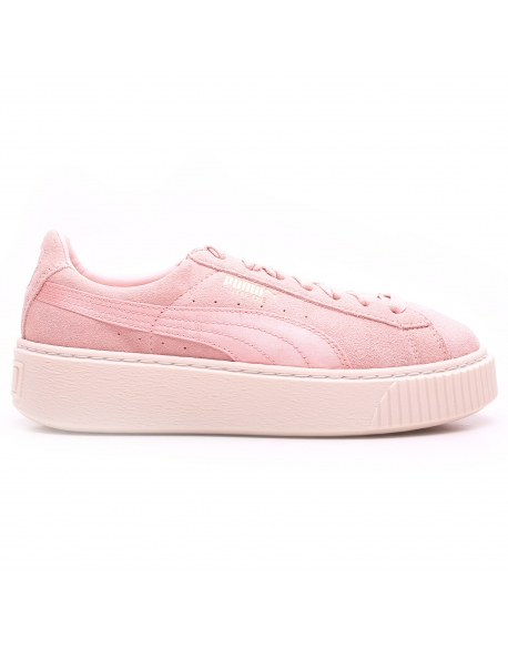 PUMA WNS SUEDE PLATEFORM SATIN Pack Rose
