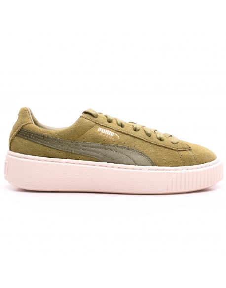 PUMA WNS SUEDE PLATEFORM SATIN Pack Olive