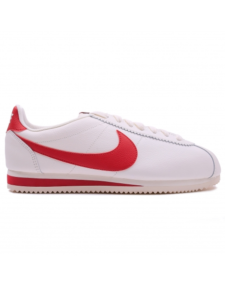 NIKE MEN'S CLASSIC CORTEZ LEATHER SE SHOE SAIL/RED
