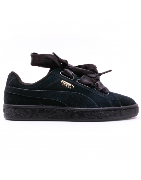 PUMA SUEDE HEART SATIN II Black