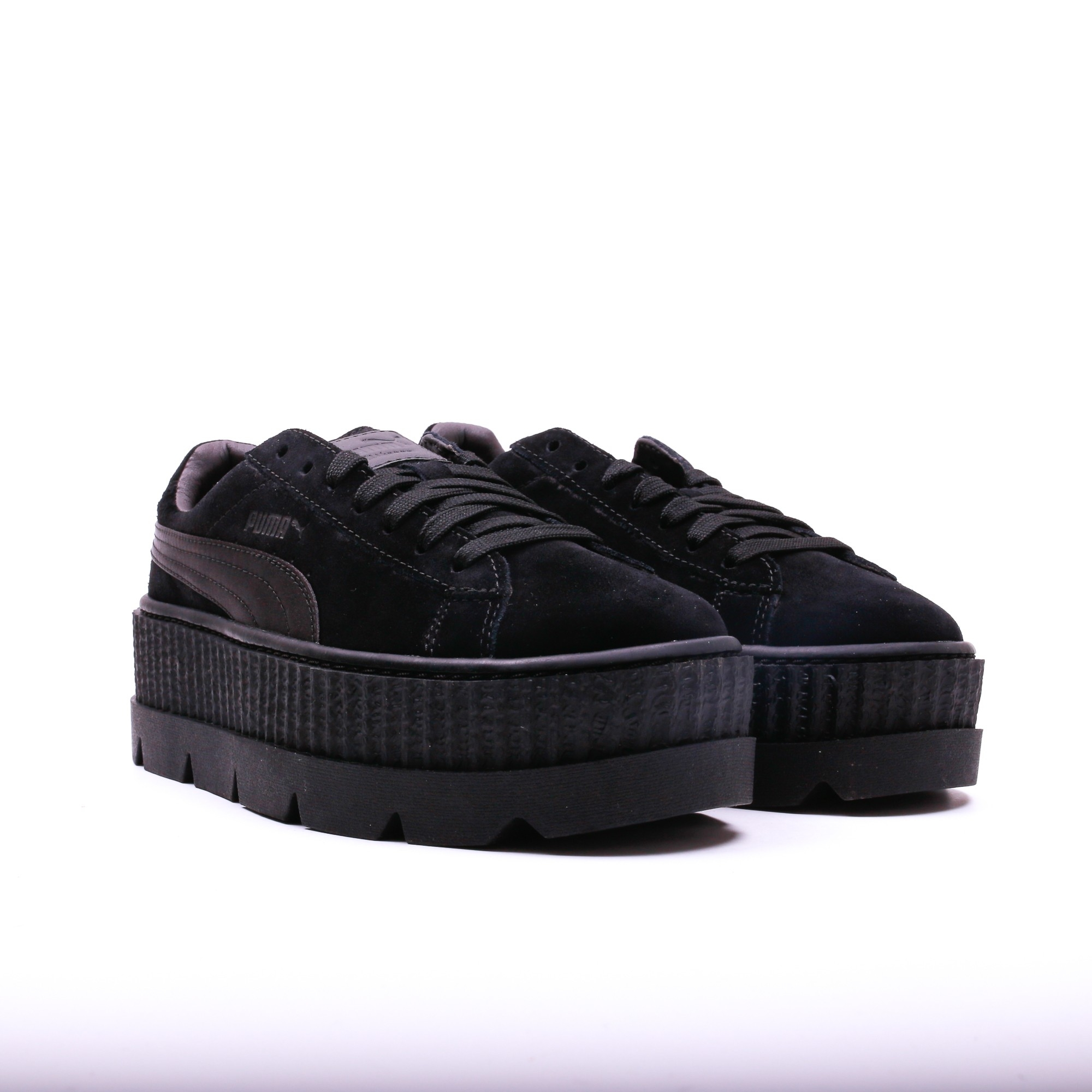 puma x fenty cleated creeper suede black slash store. Black Bedroom Furniture Sets. Home Design Ideas