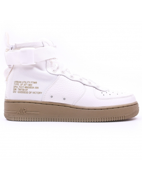 NIKE SF AIR FORCE 1 MID SHOE IVORY / OLIVE