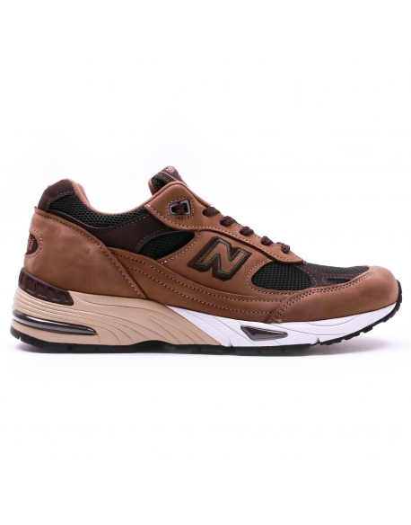NEW BALANCE M991D LEATHER/MESH/SYNTHETIC MUSHROOM
