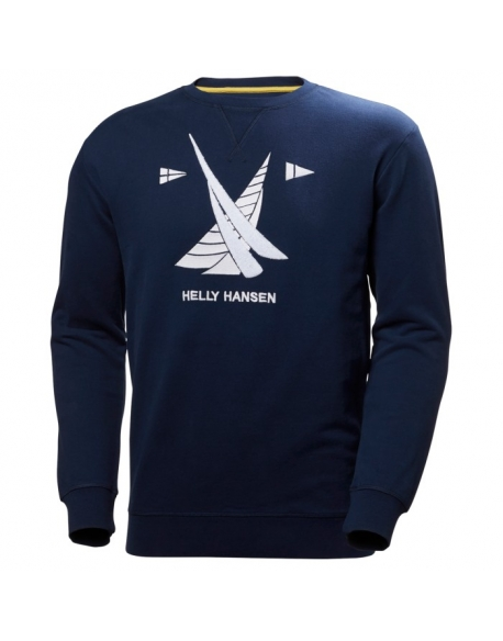 HELLY HANSEN CREW SWEAT NAVY MIXTE