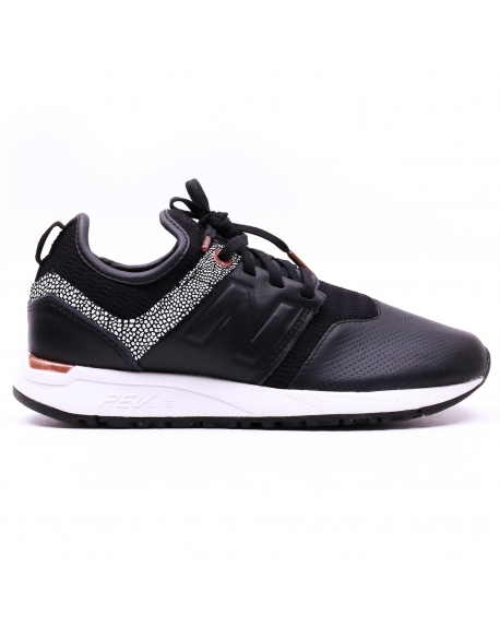 NEW BALANCE WRL247B LEATHER TEXTILE BLACK