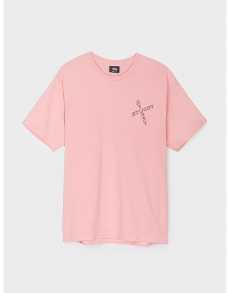 STUSSY HIPPIE SKULL TEE DUSTY ROSE