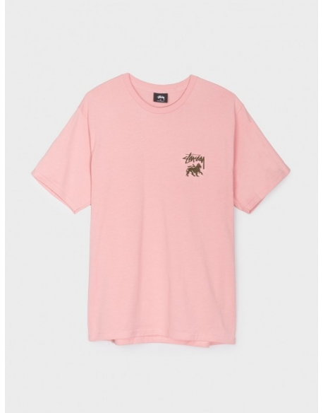 STUSSY STOCK LION TEE DUSTY ROSE
