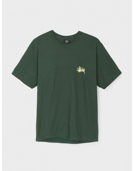 STUSSY BASIC TEE DARK FOREST