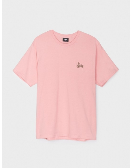 STUSSY BASIC TEE DUSTY ROSE
