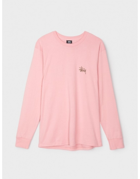 STUSSY BASIC LS TEE DUSTY ROSE