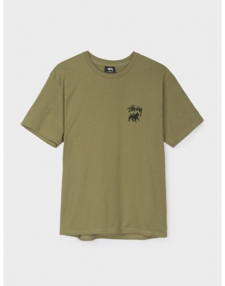 STUSSY STOCK LION TEE DUSTY OLIVE