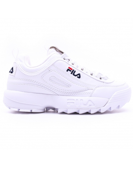 FILA DISRUPTOR LOW WHITE homme