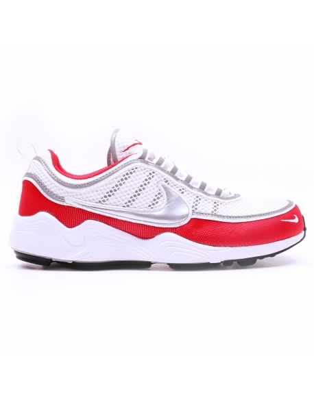 NIKE MEN'S AIR ZOOM SPIRIDON'16 SHOE WHITE SILVER RED