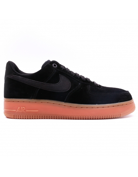 NIKE MEN'S AIR FORCE 1'07 LV8 SUEDE SHOE BLACK