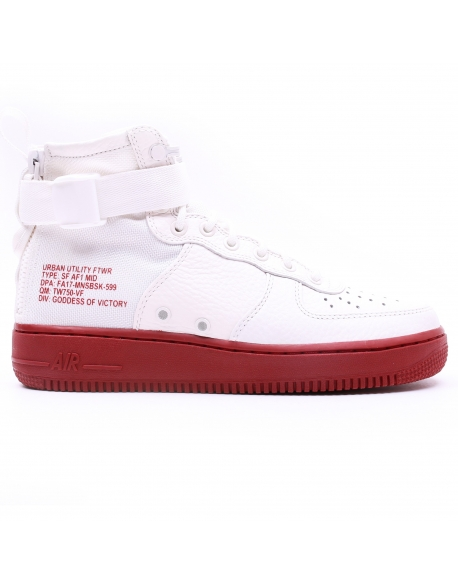 NIKE MEN'S SF AIR FORCE 1 MID SHOE IVORY
