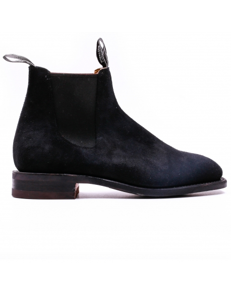 R.M Williams Suede Comfort Craftsman Black