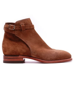 R.M Williams Buckle Boot Suede Tobacco