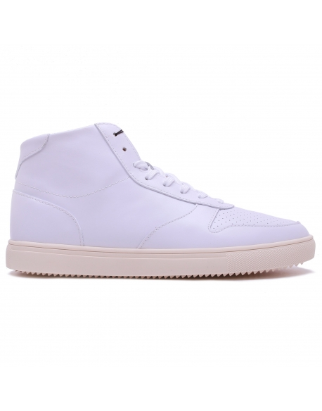 CLAE GREGORY MID WHITE LEATHER