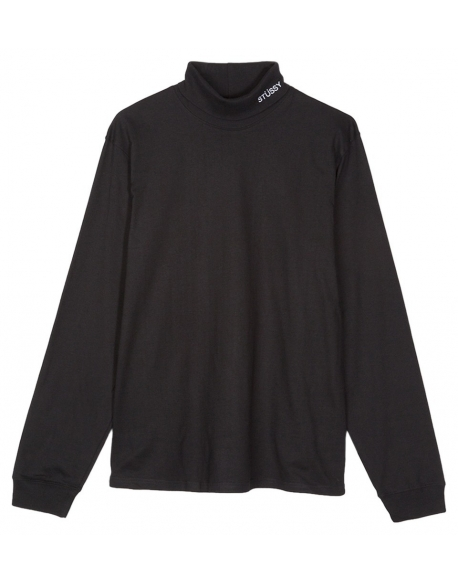 STUSSY TURTLENECK LS JERSEY BLACK