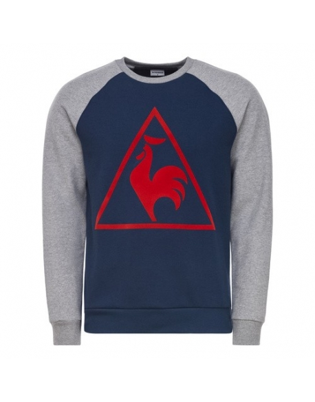 LE COQ SPORTIF TRI LF TENNIS CREW SWEAT M BLUE