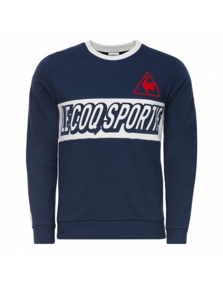 LE COQ SPORTIF TRI LF FOOTBALL CREW SWEAT M BLUE