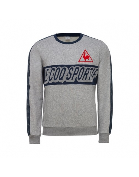 LE COQ SPORTIF TRI LF FOOTBALL CREW SWEAT M LIGHT HEATH