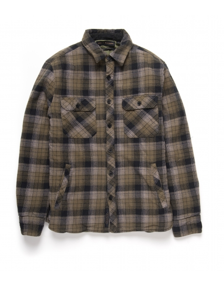 DEUS MAXWELL PLAID OVERSHIRT PINE