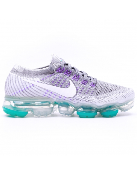 NIKE WOMEN'S AIR VAPORMAX FLYKNIT RUNNING SHOE GREY