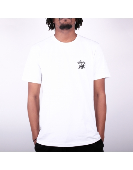 Stussy Lion Shield Tee White