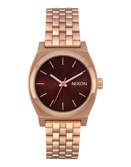Nixon Medium Time Teller all rose gold – Brown