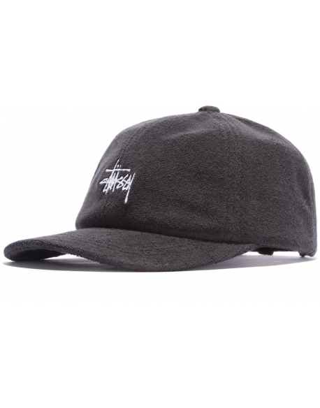 Stussy Stock Terry Cap Black
