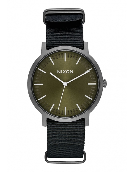 NIXON PORTER NYLON SURPLUS BLACK 40MM